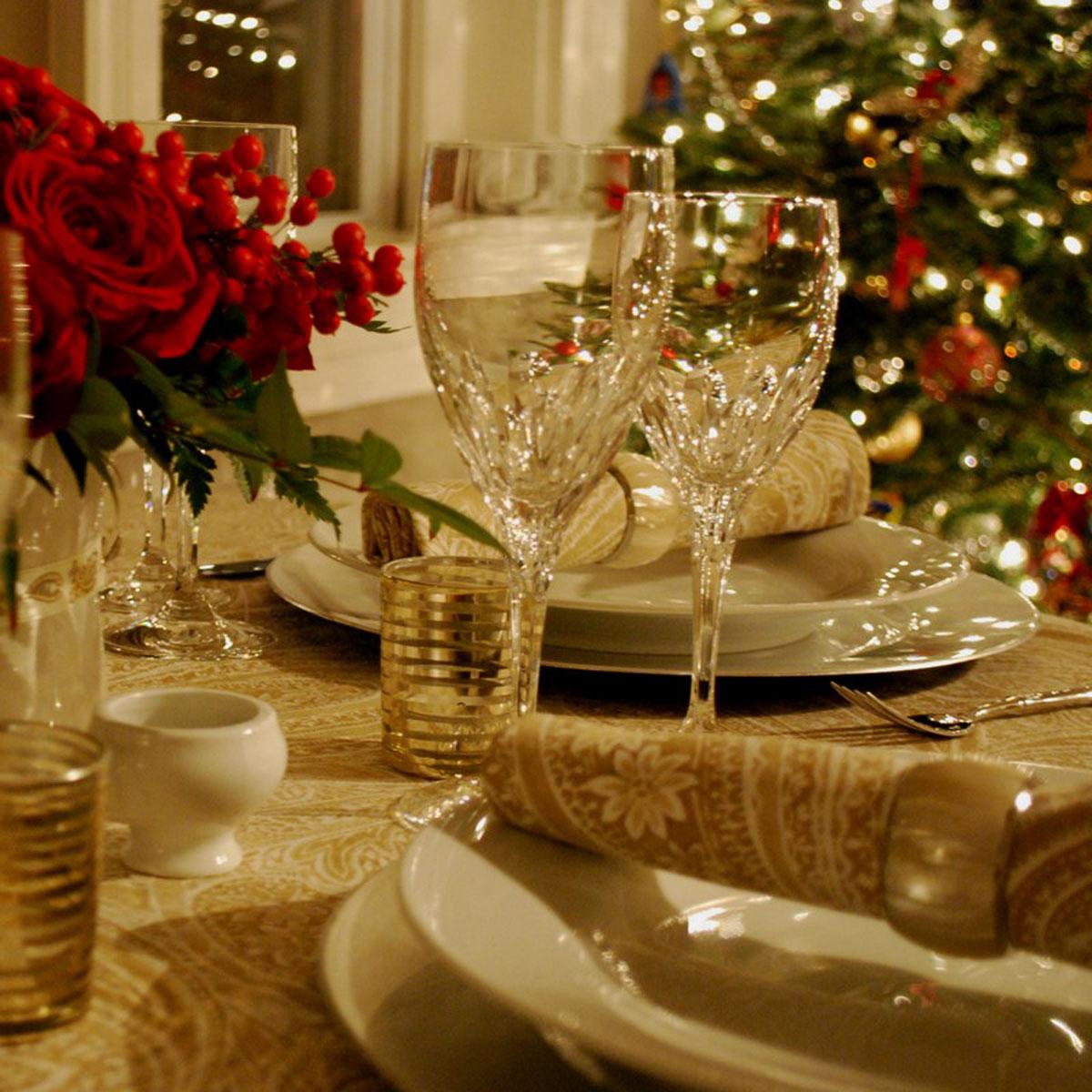 Vianocne stoly vyzdoba